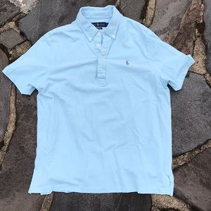 Men's Polo Knit Oxford Size Large